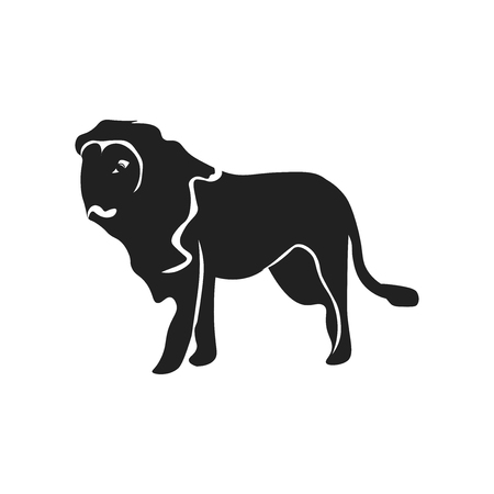 Lion icon vector isolated on white background for your web and mobile app design, Lion logo concept