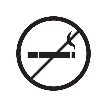 No Smoking Sign icon vector isolated on white background for your web and mobile app design, No Smoking Sign logo concept