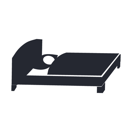 Bed icon vector isolated on white background for your web and mobile app design, Bed logo concept