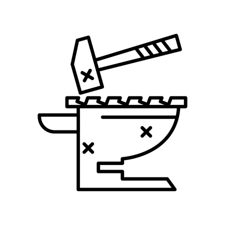 Icona di incudine vettoriale isolato su sfondo bianco per il vostro web e progettazione di app per dispositivi mobili, concetto di marchio di incudine