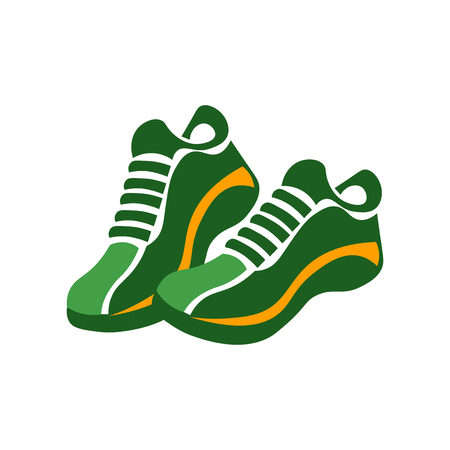 Sneakers icon vector isolated on white background for your web and mobile app design, Sneakers logo concept