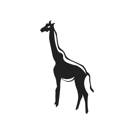 Giraffe icon vector isolated on white background for your web and mobile app design, Giraffe logo concept