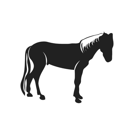 Horse icon vector isolated on white background for your web and mobile app design, Horse logo concept