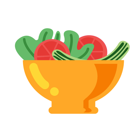 Salad icon vector isolated on white background for your web and mobile app design, Salad logo concept