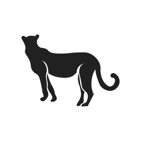 Cougar icon vector isolated on white background for your web and mobile app design, Cougar logo concept