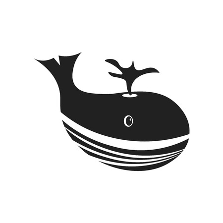 Whale icon vector isolated on white background for your web and mobile app design, Whale logo concept Illustration