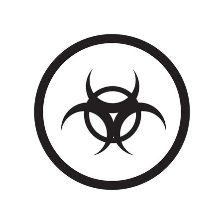 Vecteur d'icône d'avertissement biologique isolé sur fond blanc pour la conception de votre application web et mobile, concept de logo d'avertissement biologique