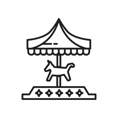 Vector icono de carrusel aislado sobre fondo blanco para su diseño web y aplicaciones móviles, concepto de logo de carrusel