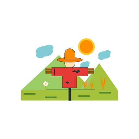 Scarecrow icon vector isolated on white background for your web and mobile app design, Scarecrow logo concept
