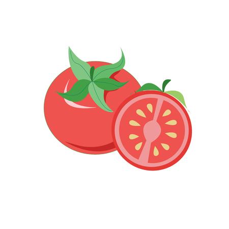 Vecteur d'icône de tomate isolé sur fond blanc pour la conception de votre application web et mobile, concept de logo de tomate