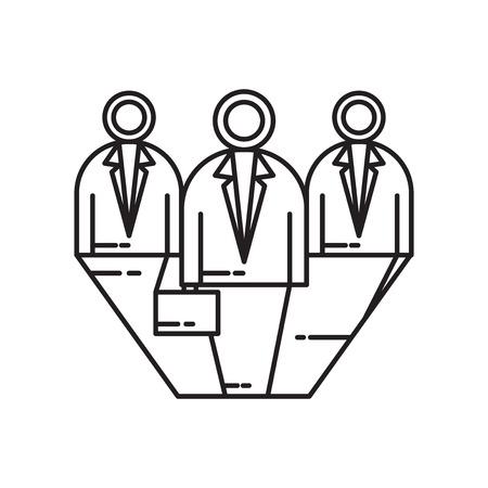 Vecteur d'icône de candidats isolé sur fond blanc pour la conception de votre application web et mobile, concept de logo de candidats Logo