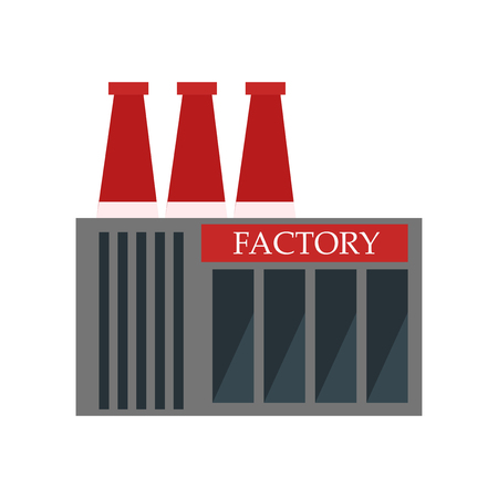 Factory icon vector isolated on white background for your web and mobile app design, Factory logo concept Vettoriali