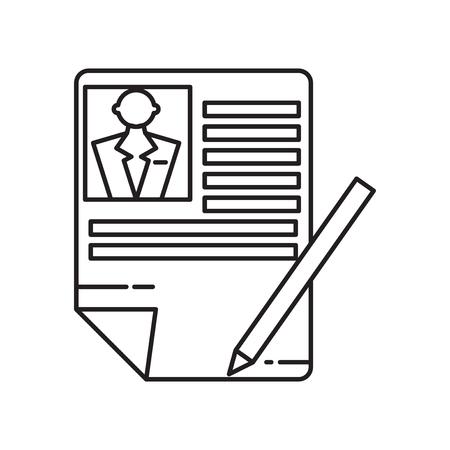 Curriculum-Symbolvektor lokalisiert auf weißem Hintergrund für Ihr Web- und mobile App-Design, Curriculum-Logo-Konzept