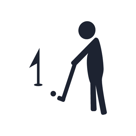Golf icon vector isolated on white background for your web and mobile app design, Golf logo concept