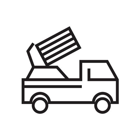 Vecteur d'icône de lanceur isolé sur fond blanc pour la conception de votre application web et mobile, concept logo lanceur