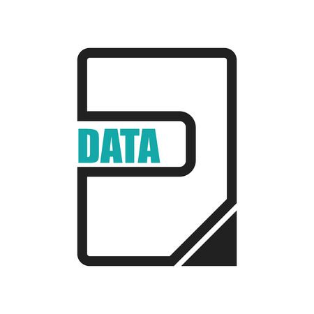 Data page icon vector isolated on white background for your web and mobile app design, Data page logo concept