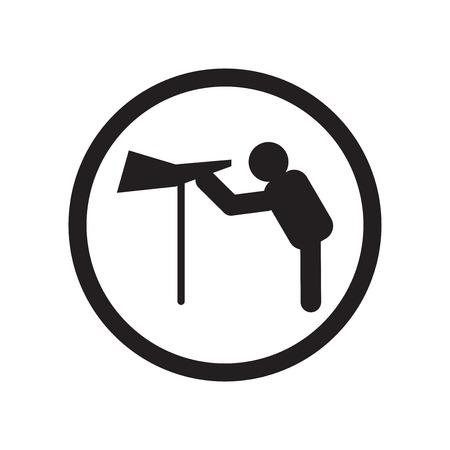 Site de voir le vecteur d'icône de lieu isolé sur fond blanc pour la conception de votre application web et mobile, concept de logo de lieu de site