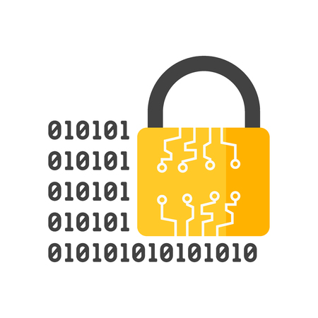Encrypted icon vector isolated on white background for your web and mobile app design, Encrypted logo concept