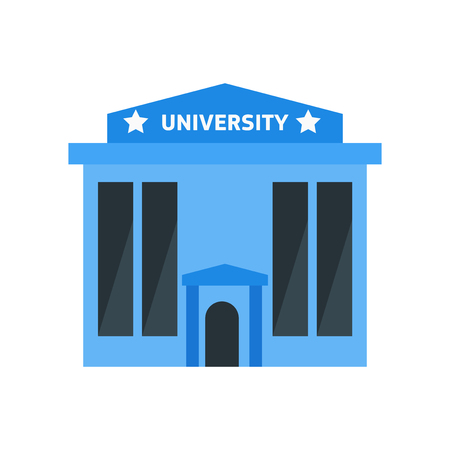 University icon vector isolated on white background for your web and mobile app design, University logo concept Illustration