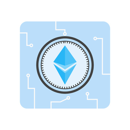 Ethereum icon vector isolated on white background for your web and mobile app design, Ethereum logo concept