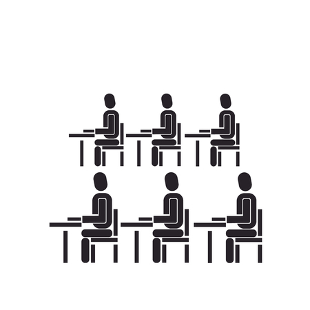 Classroom icon vector isolated on white background for your web and mobile app design, Classroom logo concept