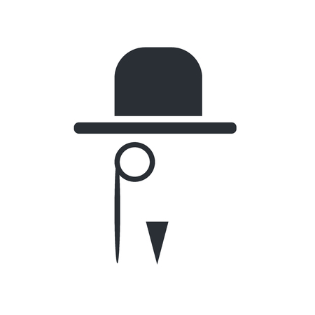 Gentleman icon vector isolated on white background for your web and mobile app design, Gentleman logo concept