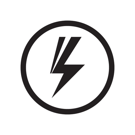 Shock sign icon vector isolated on white background for your web and mobile app design, Shock sign logo concept