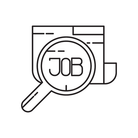 Job search icon vector isolated on white background for your web and mobile app design, Job search logo concept