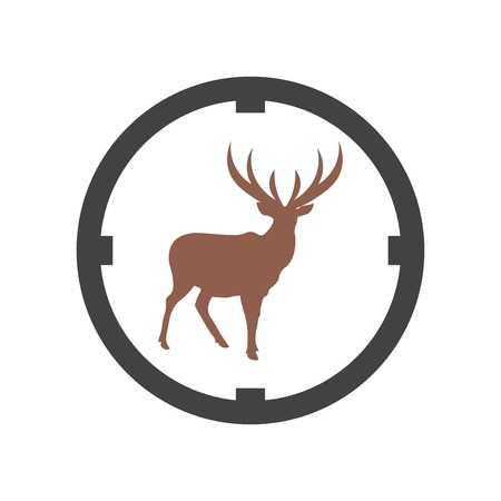 Hunter icon vector isolated on white background for your web and mobile app design, Hunter logo concept