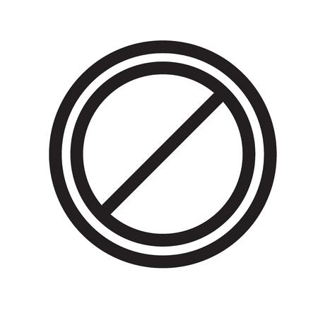 ウェブおよびモバイルアプリのデザイン、禁止サインロゴコンセプトのための白い背景に分離禁止サインアイコンベクトル