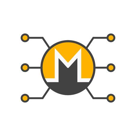 Monero icon vector isolated on white background for your web and mobile app design, Monero logo concept