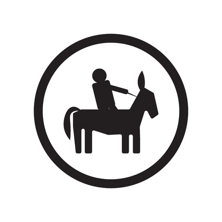 Horse riding icon vector isolated on white background for your web and mobile app design, Horse riding logo concept Stock Illustratie