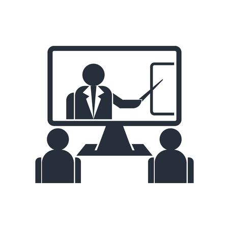 Szkolenie online wektor ikona na białym tle na białym tle dla projektu sieci web i aplikacji mobilnych, koncepcja logo szkolenia online Logo
