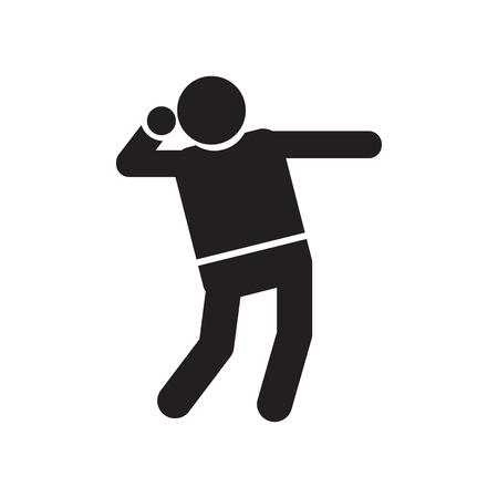 Vecteur d'icône Shot Put isolé sur fond blanc pour la conception de votre application web et mobile, concept logo Shot Put