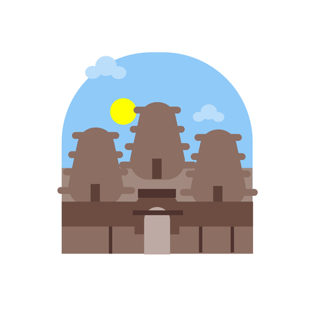 Angkor wat icon vector isolated on white background for your web and mobile app design, Angkor wat logo concept 向量圖像