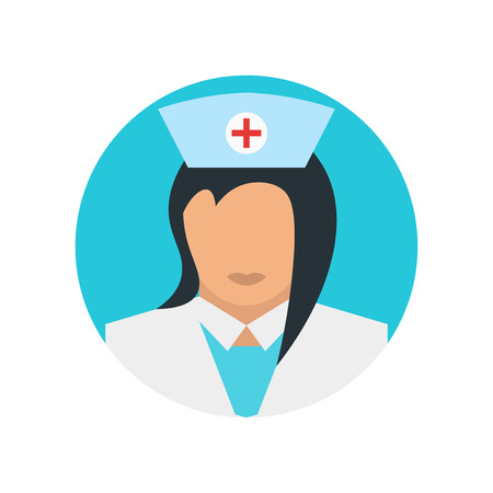 Nurse icon vector isolated on white background for your web and mobile app design, Nurse logo concept Vettoriali