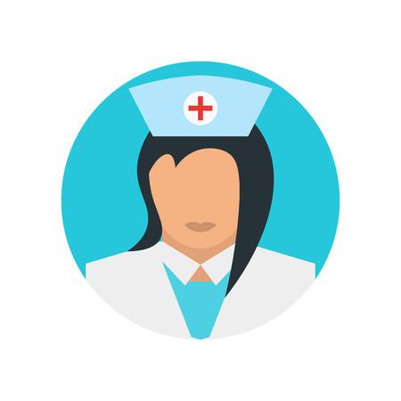 Nurse icon vector isolated on white background for your web and mobile app design, Nurse logo concept Ilustração