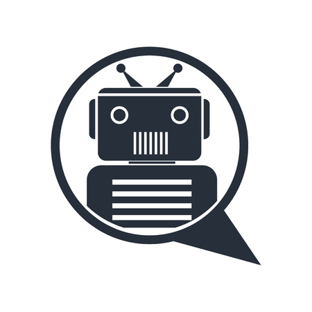 Chat bot icon vector isolated on white background for your web and mobile app design, Chat bot logo concept