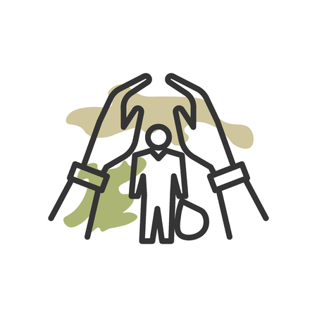 Refugee icon vector isolated on white background for your web and mobile app design, Refugee logo concept