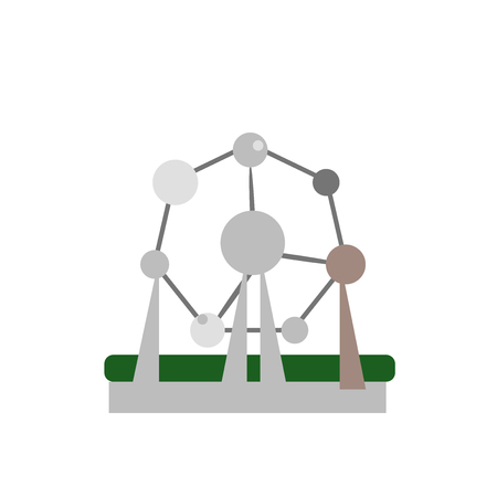 Atomium icon vector isolated on white background for your web and mobile app design, Atomium logo concept Illustration