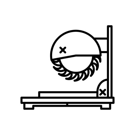 Chop saw icon vector isolated on white background for your web and mobile app design, Chop saw logo concept
