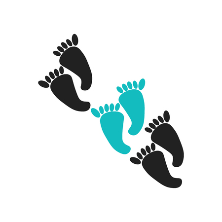 Footprints direction sketch icon vector isolated on white background for your web and mobile app design, Footprints direction sketch logo concept Çizim
