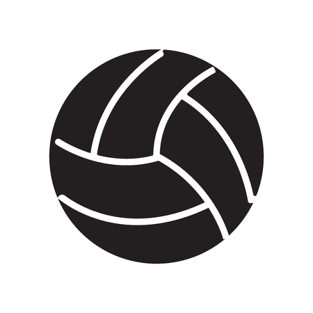 Volley ball icon vector isolated on white background for your web and mobile app design, Volley ball logo concept