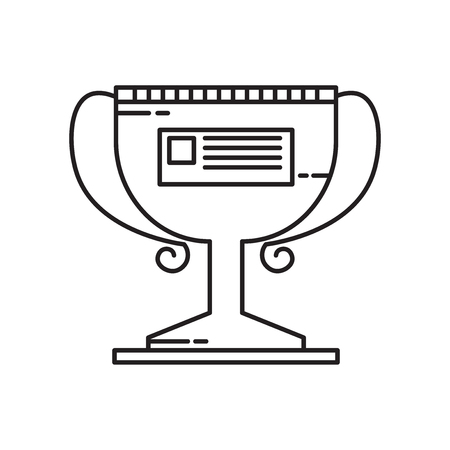 Trophy icon vector isolated on white background for your web and mobile app design, Trophy logo concept Vectores