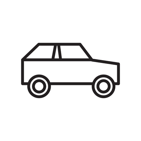 Car icon vector isolated on white background for your web and mobile app design, Car logo concept Illustration