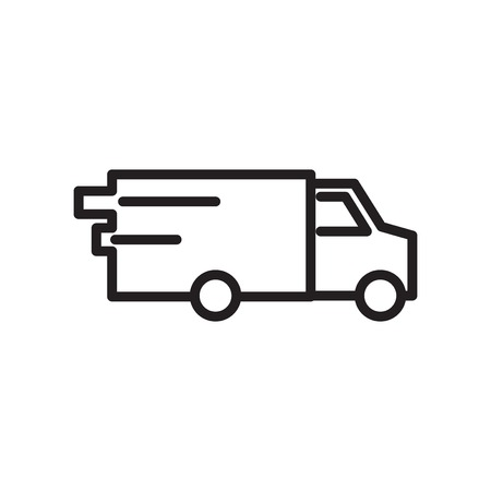 Van icon vector isolated on white background for your web and mobile app design, Van logo concept