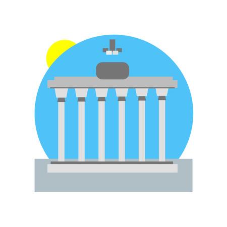 Brandenburg gate icon vector isolated on white background for your web and mobile app design, Brandenburg gate logo concept