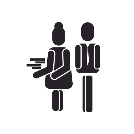 Sexual harassment icon vector isolated on white background for your web and mobile app design, Sexual harassment logo concept
