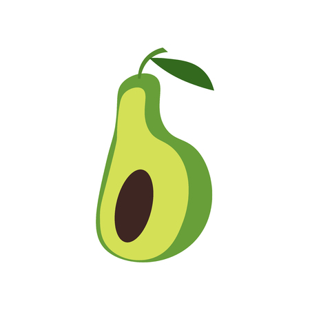 Avocado icon vector isolated on white background for your web and mobile app design, Avocado logo concept