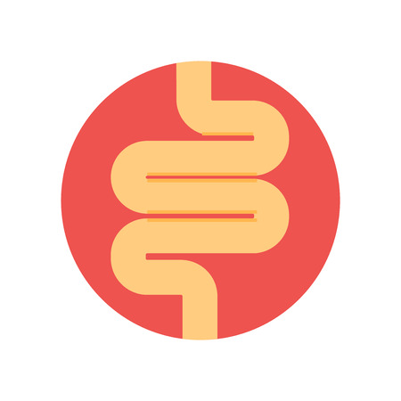 Intestines icon vector isolated on white background for your web and mobile app design, Intestines logo concept Illustration